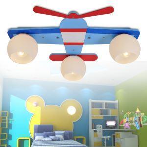 シーリングライト 天井照明 子供屋照明 飛行機型 3灯