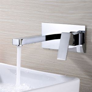 壁付水栓 バス水栓 洗面蛇口 ハンドル別掛け