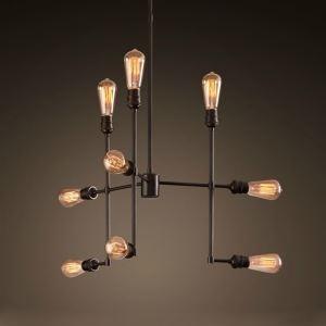 ペンダントライト パイプライト 工業照明 天井照明 照明器具 ビンテージ 9灯