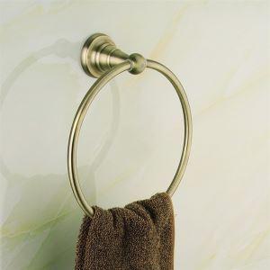 浴室タオルリング タオル掛け タオル収納 ハンガー バス用品 真鍮製 アンティーク