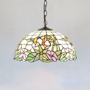 ティファニーライト ステンドグラスランプ ペンダントライト 照明器具 リビング照明 寝室照明 ハチドリ柄 2灯 D40cm