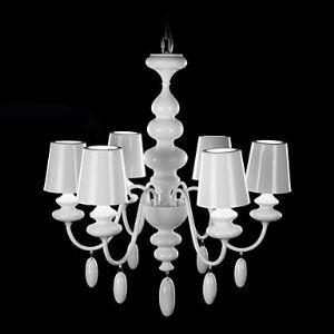 シャンデリア 天井照明 照明器具 白色塗装 6灯