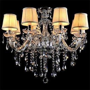 シャンデリア クリアクリスタル照明 天井照明 姫系照明器具 8灯