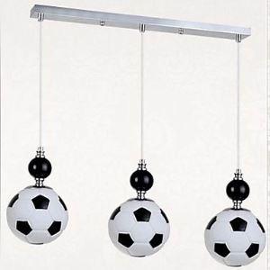 ペンダントライト サッカー照明 子供屋照明 天井照明 照明器具 方形 3灯