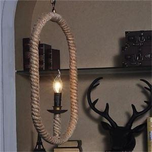 ペンダントライト ロープ照明 工業照明 天井照明 レトロな照明器具 カントリー 1灯