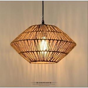 ペンダントライト 照明器具 ロープ照明 店舗照明 食卓照明 寝室 玄関 ヴィンテージ 1灯 LTB769045