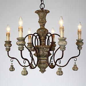 シャンデリア アメリカスタイル照明 天井照明 レトロな照明器具 6灯