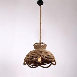 ペンダントライト 照明器具 店舗照明 玄関照明 食卓照明 ロープ照明 カントリー風 1灯 LTB870753