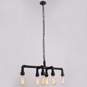 ペンダントライト パイプ照明 工業照明 天井照明 レトロな照明器具 カントリー 6灯