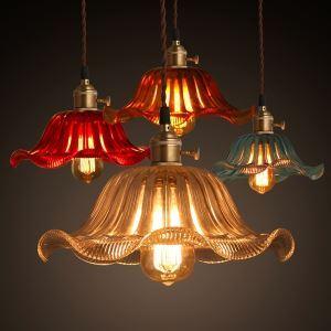 ペンダントライト ガラス製照明 天井照明 レトロな照明器具 ビンテージ 1灯