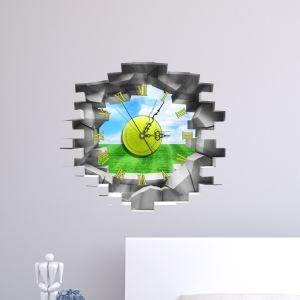 3D壁掛け時計 3Dデコレ壁掛け時計 DIYデコレ時計 静音時計 青空柄