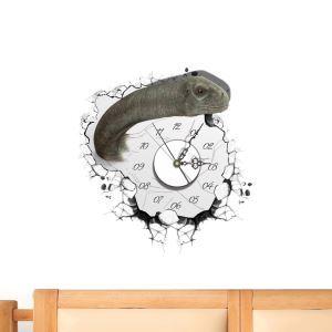 3D壁掛け時計 3Dデコレ壁掛け時計 DIYデコレ時計 静音時計 恐竜柄