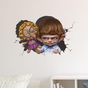 3D壁掛け時計 3Dデコレ壁掛け時計 DIYデコレ時計 静音時計 赤ん坊柄