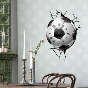 3D壁掛け時計 3Dデコレ壁掛け時計 DIYデコレ時計 静音時計 サッカー柄