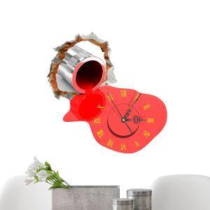 3D壁掛け時計 3Dデコレ壁掛け時計 DIYデコレ時計 静音時計 ペンキ柄