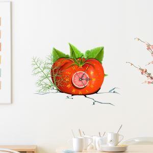 3D壁掛け時計 3Dデコレ壁掛け時計 DIYデコレ時計 静音時計 トマト柄