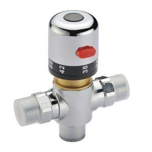サーモスタット混合水弁 温度調整栓 混合バルブ(0912-PHW-02)