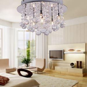 シーリングライト クリスタル照明 玄関照明 リビング照明 天井照明 照明器具 6灯
