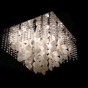 シーリングライト クリスタル付照明  シェル製照明 天井照明 照明器具 5灯
