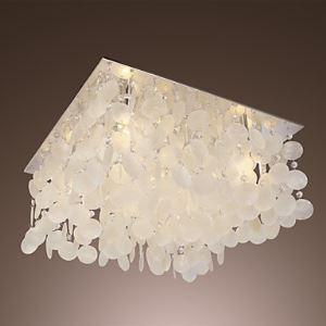 シーリングライト シェル製照明 リビング照明 照明器具 天井照明 5灯