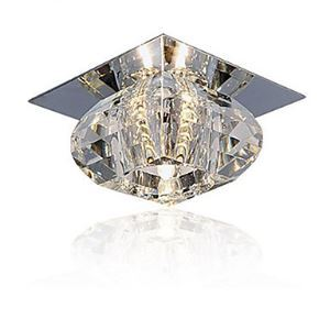 シーリングライト クリスタル照明 玄関照明 天井照明 埋込み式 1灯