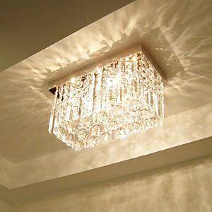 シーリングライト クリスタル照明 玄関照明 天井照明 照明器具 3灯