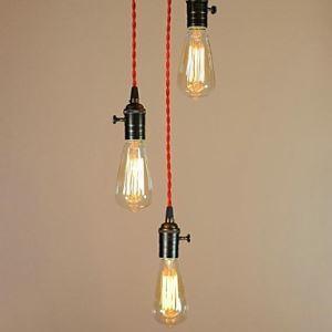 ペンダントライト 鉄製照明 玄関照明 エジソン照明 照明器具 北欧照明 3灯