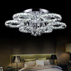 LEDシーリングライト クリスタル照明 玄関照明 天井照明 照明器具 6リング