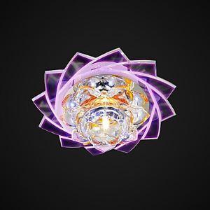 LEDシーリングライト 照明器具 天井照明 玄関照明 クリスタル 蓮の花型 LED対応 1灯