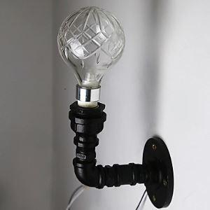 壁掛けライト ウォールランプ ブラケット 工業照明 パイプ照明 ビンテージ 1灯