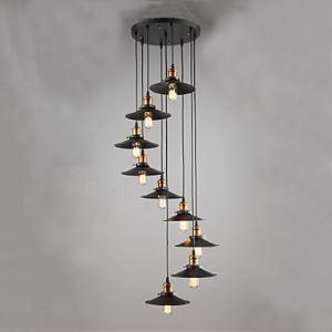 シーリングライト 工業照明 天井照明 北欧風照明 ビンテージ 9灯