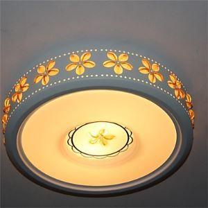 シーリングライト リビング照明 花柄付照明 照明器具 天井照明 2灯