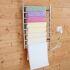 壁掛けタオルウォーマー タオルヒーター タオルハンガー+簡易乾燥 #304ステンレス鋼 クロム 80W