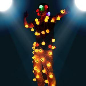 ハロウィングッズ LEDストリングライト パンプキン カボチャ照明 イルミネーション 装飾品 NL001