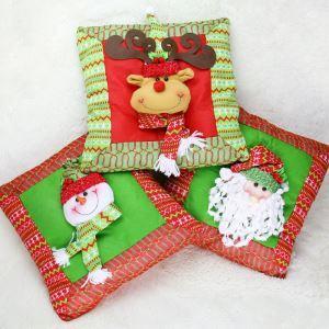 クリスマスクッションカバー サンタクロース トナカイ スノーマン雪だるま クリスマスインテリア雑貨