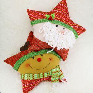 クリスマスクッションカバー サンタクロース クリスマスインテリア雑貨 五角星型