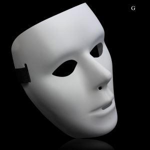 ハロウィングッズ JabbaWockeeZマスク 仮面パーティーマスク 白色 NL053
