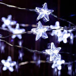 LEDイルミネーションライト LEDストリングライト 星型照明 結婚式 パーティー クリスマス 飾り 防水防雨