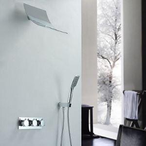 埋込式シャワー水栓 シャワーシステム 浴室シャワーバー バス蛇口 混合栓 クロム