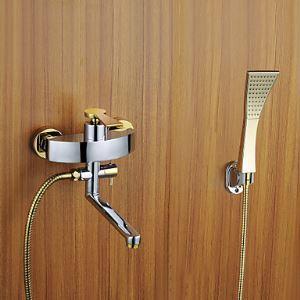 シャワー水栓 バス蛇口 ハンドシャワー 混合水栓 蛇口付き 水栓金具 風呂用 FT4372