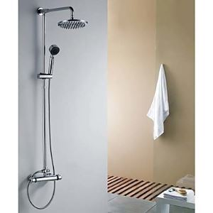 レインシャワーシステム ヘッドシャワー+ハンドシャワー 真鍮製 クロム