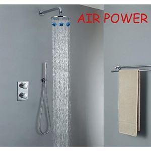 埋込式シャワー水栓 レインシャワーシステム バス蛇口 混合栓 サーモスタット付き クロム