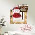 3Dウォールステッカー クリスマスシリーズ  転写式ステッカー 立体DIY PVCシール シート 雪だるま柄 WS3D272