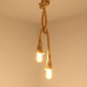 ペンダントライト 照明器具 ロープ照明 天井照明 店舗 玄関 食卓 ビンテージ 1灯/2灯【セール】