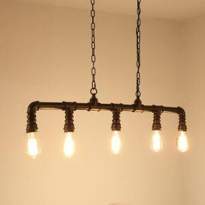 ペンダントライト パイプライト 天井照明 照明器具 北欧風照明 ビンテージ 5灯