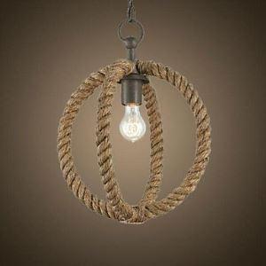 ペンダントライト ロープ照明 天井照明 レトロな照明器具 カントリー 1灯