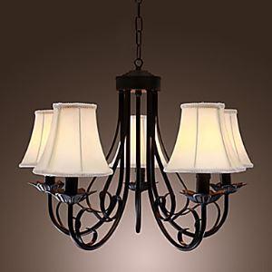 シャンデリア 天井照明 照明器具 北欧照明 アンティーク 5灯