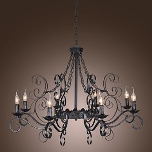 シャンデリア 天井照明 照明器具 北欧照明 アンティーク 8灯