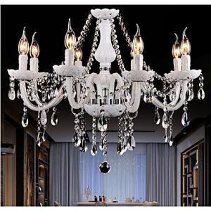 シャンデリア リビング照明 照明器具 吹き抜け照明 ダイニング 寝室 店舗 クリスタル おしゃれ 白色 8灯 LED電球対応 LT347479