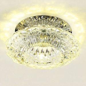 LEDシーリングライト クリスタル照明 玄関照明 天井照明 埋込み式 3W